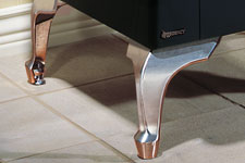Brushed Nickel Cast Iron Legs