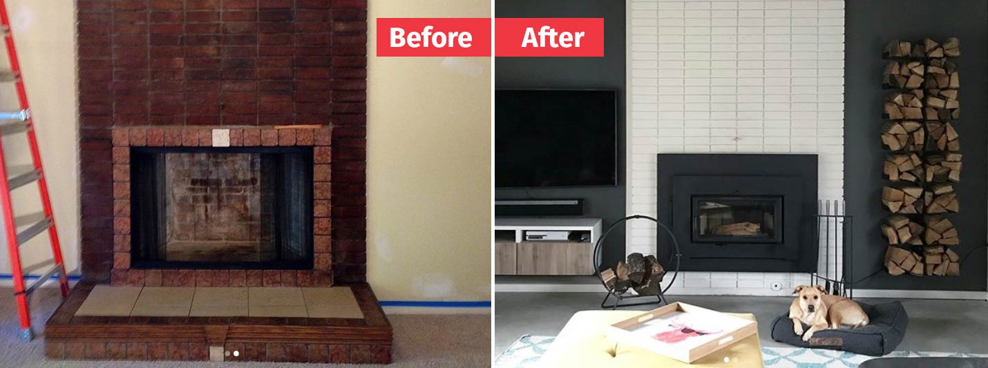 10 Fireplace Makeover Ideas | Before and After