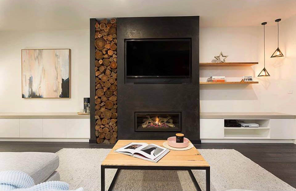 Wood Log Storage Features Are So Stylish Theyu0027re Popping Up Alongside Gas  Fireplaces! Design By: Cahill Group / Pictured: U900 Gas Fireplace