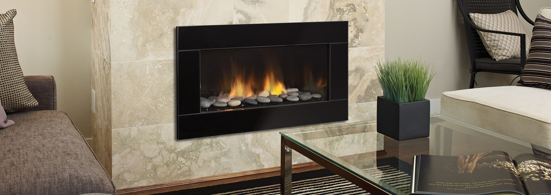 Shown With Verona Gl Faceplate In Black Grey Volcanic Stones And Enamel Reflective Panels