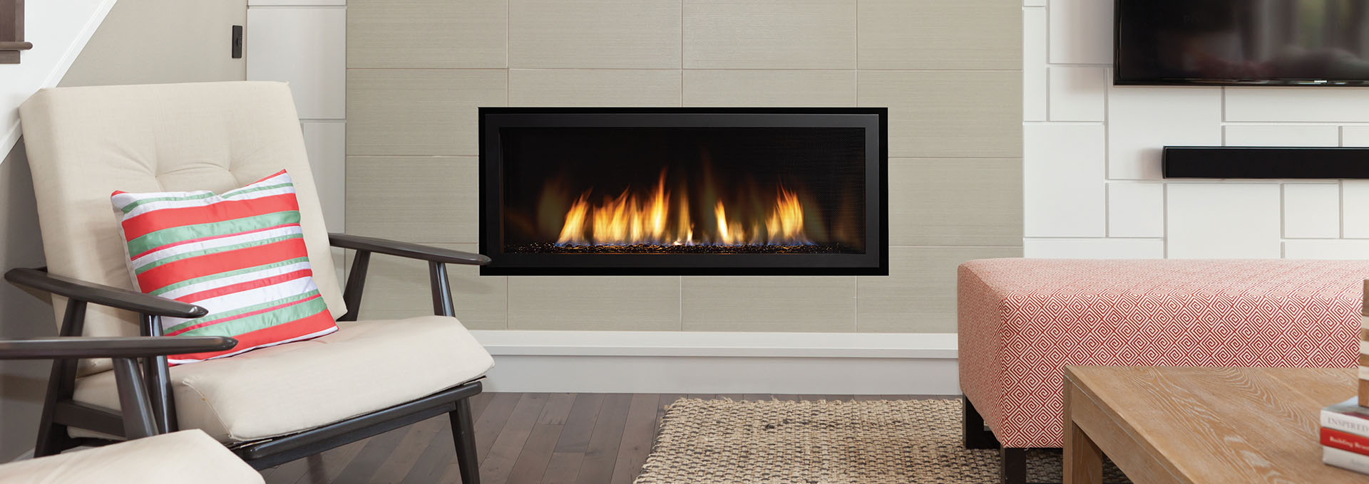 Small Contemporary Gas Fireplace Inserts