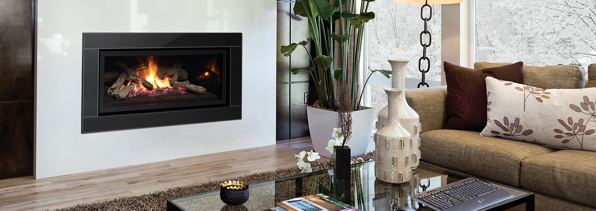 Design Modern Gas Fireplace ultimate u900e modern gas fireplace contemporary shown with inner frame and verona glass surround in black