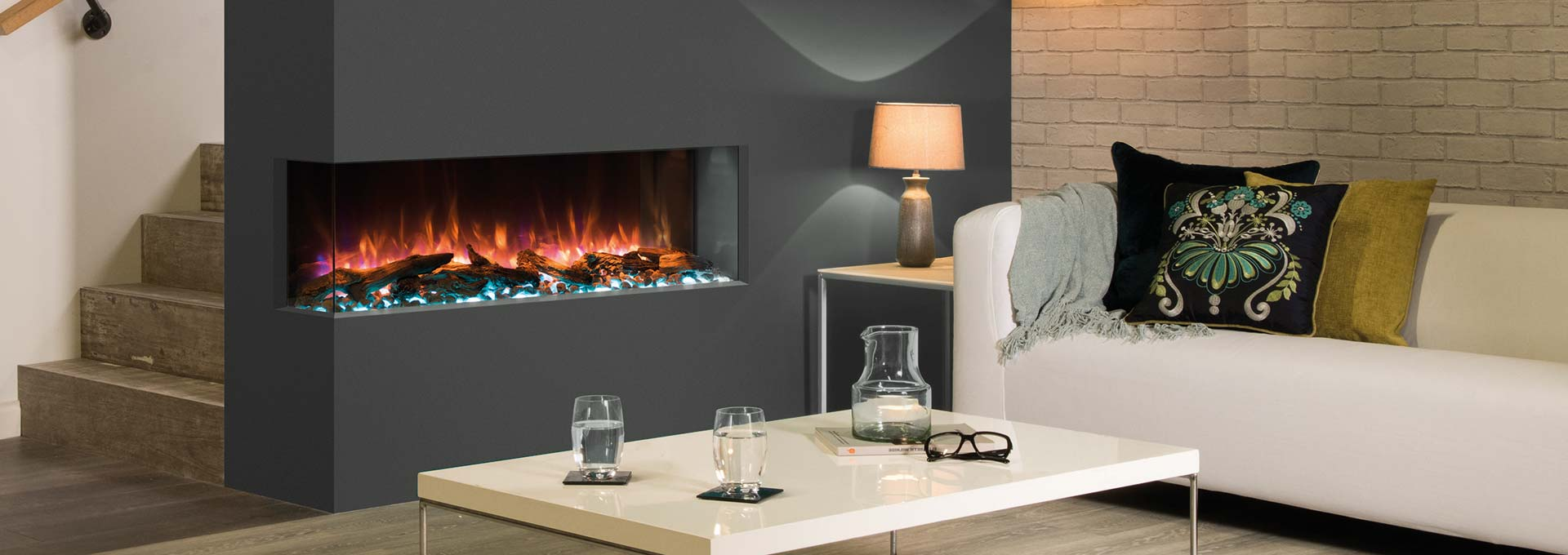 Modern Electric Fireplaces Built In Wall Mounted Electric