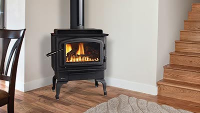 The Regency Classic Gas Stove mirrors the authentic styling of a wood stove with all the convenience of gas.