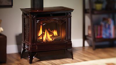 H35 gas stove in timberline brown finish
