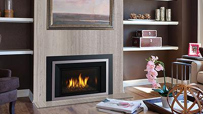 Sleek, contemporary gas insert designed to update over 95% of existing fireplaces.