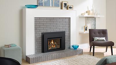 Regency's smallest gas insert, it is a direct vent unit with traditional stylizing. It is made to fit into smaller masonry openings.