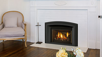 No more drafty fireplaces! Save money by turning down your furnace and zone heating with a Regency gas insert.