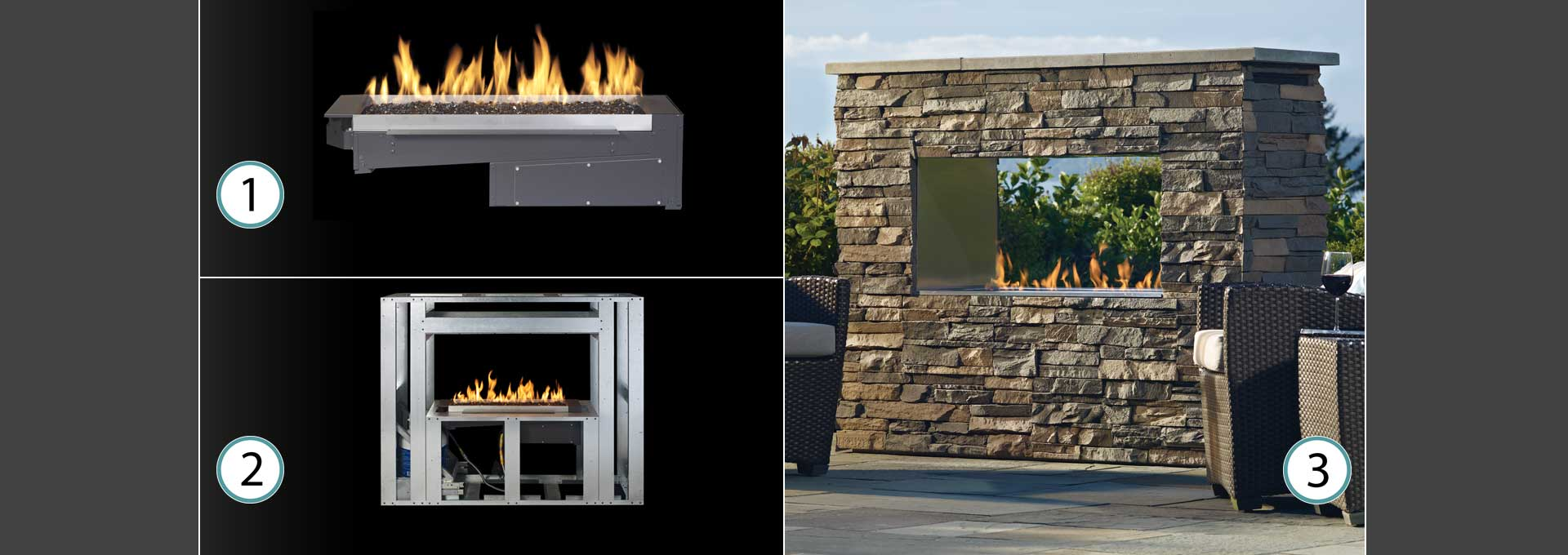 outdoor gas fireplace kit. 1 2 3 Framing Kit and Burner Outdoor Gas Fireplaces  Firepits Firetables