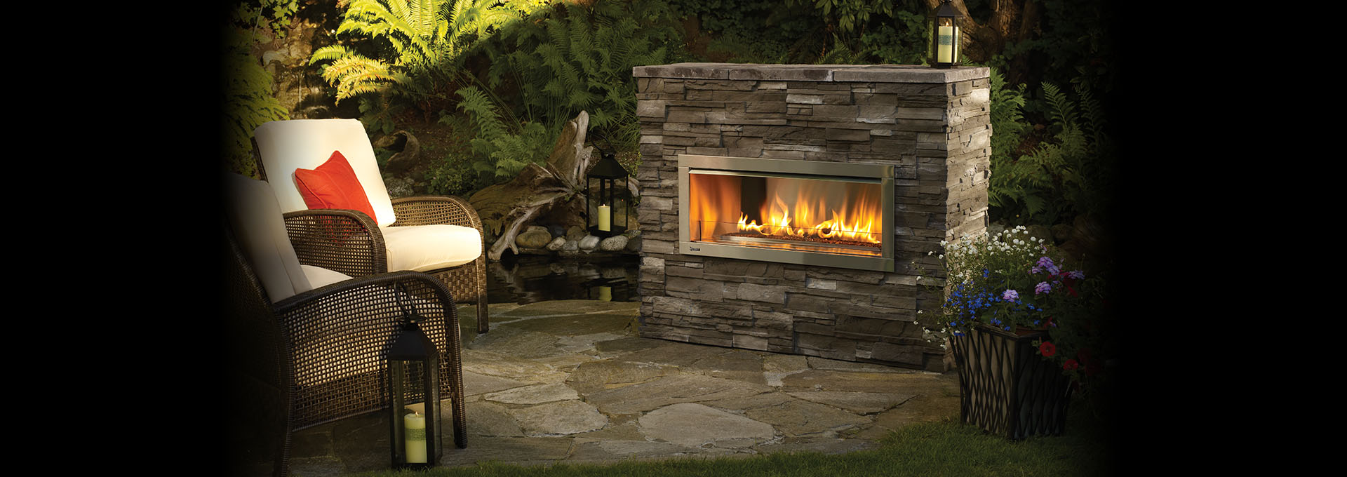 HZO42 Modern Outdoor Gas Fireplace - Outdoor Gas Fireplaces ...