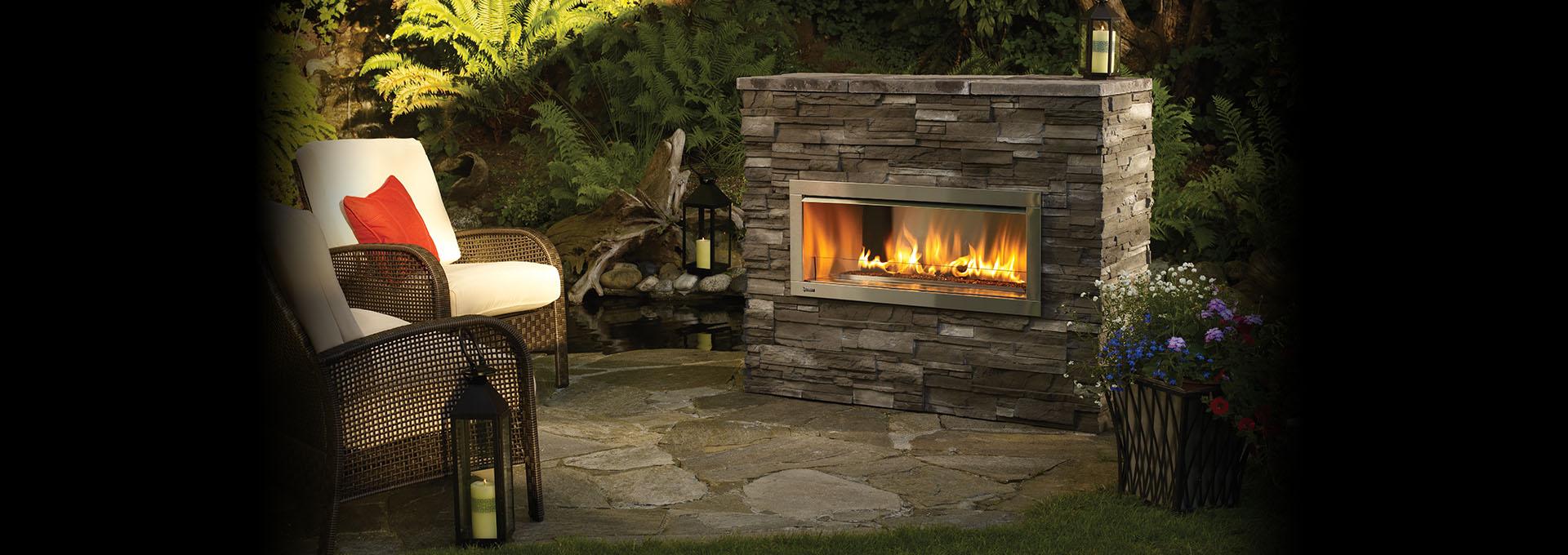 Modern Outdoor Gas Fireplaces Fireplace Kits Regency