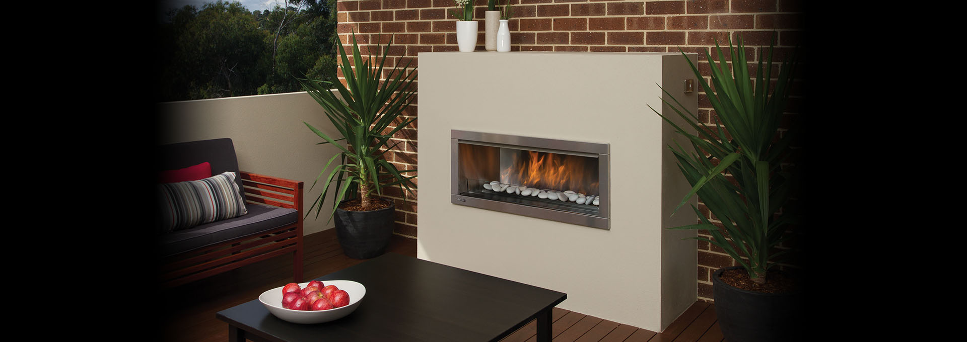 outdoor gas fireplace kit. Regency Horizon Outdoor Gas Fireplace shown with volcanic stones and steel  framing kit HZO42 Modern Fireplaces