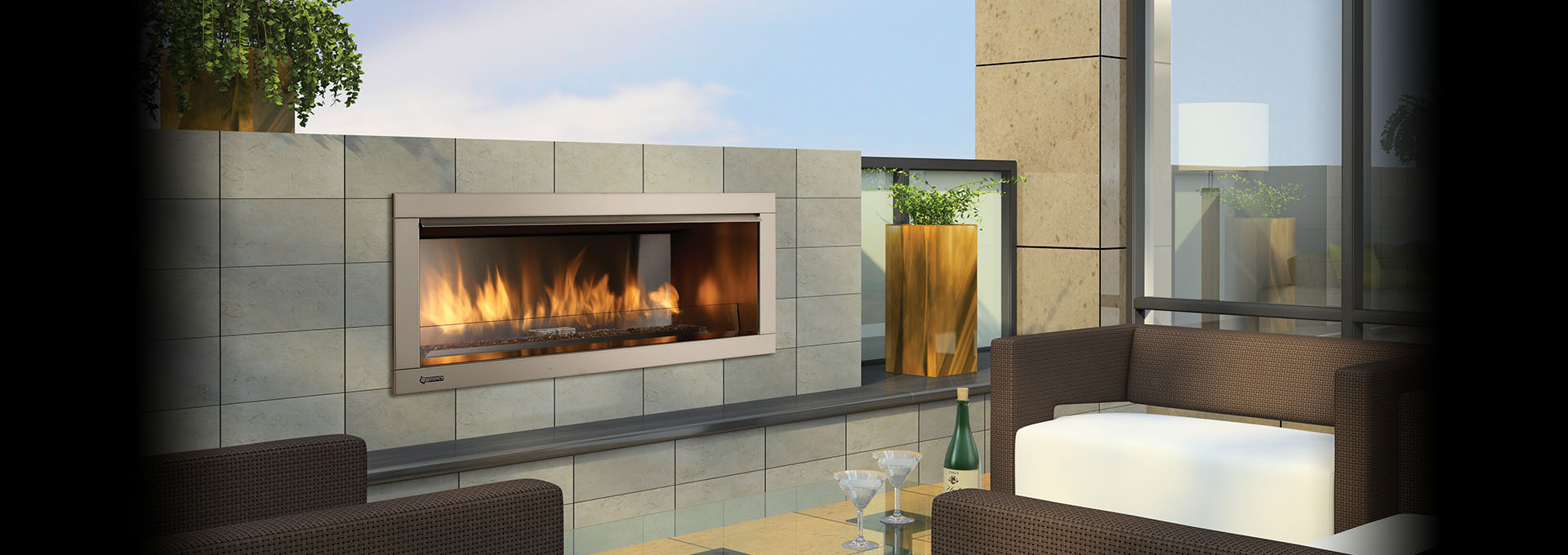 hzo42 modern outdoor gas fireplace outdoor gas fireplaces