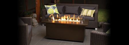 Outdoor gas firetable plateau pto30 coffee regency for Concreteworks fire table