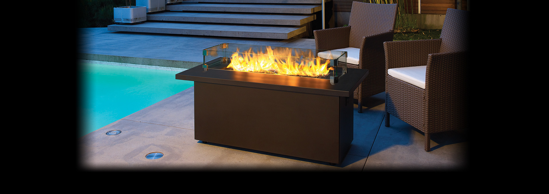 outdoor gas firetable plateau pto30 coffee regency fireplace