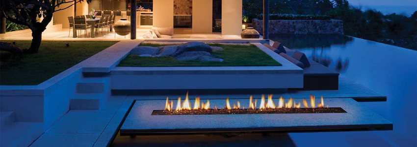 custom outdoor fireplace burners