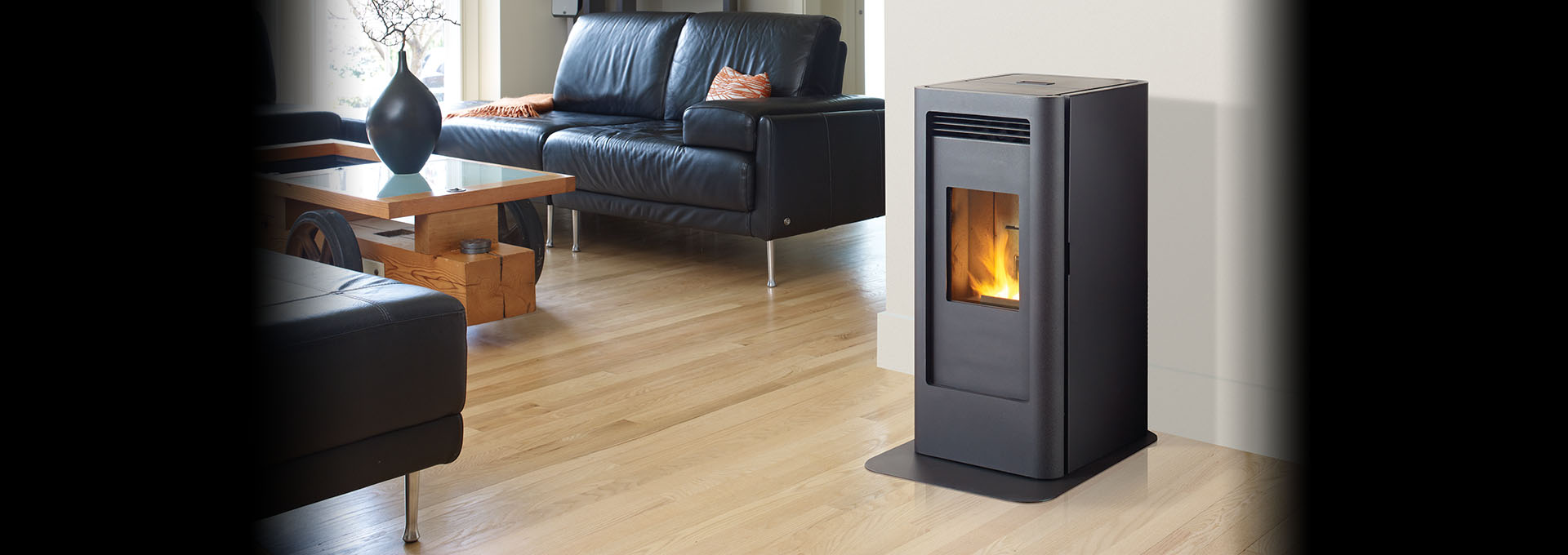 Greenfire Gf40 Modern Compact Pellet Stove Regency Fireplace Products
