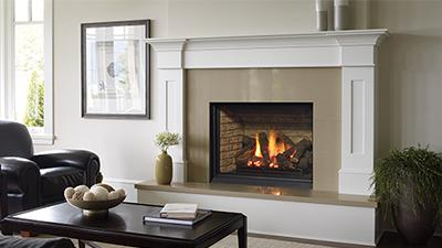 B36XTCE gas fireplace with logs