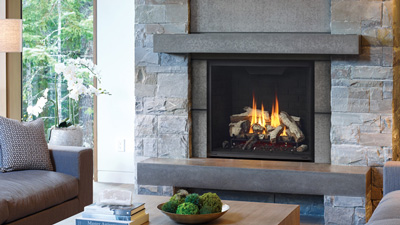 "Large 36"" gas fireplace with Electronic Ignition. Get the look you want with Grandview's mix and match accessories and various framing options including the option to install with cool wall technology."