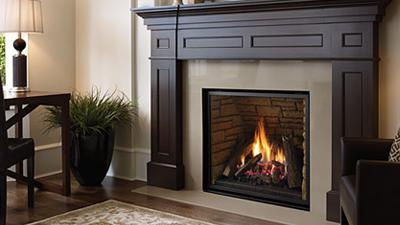 L965E gas fireplace with logs
