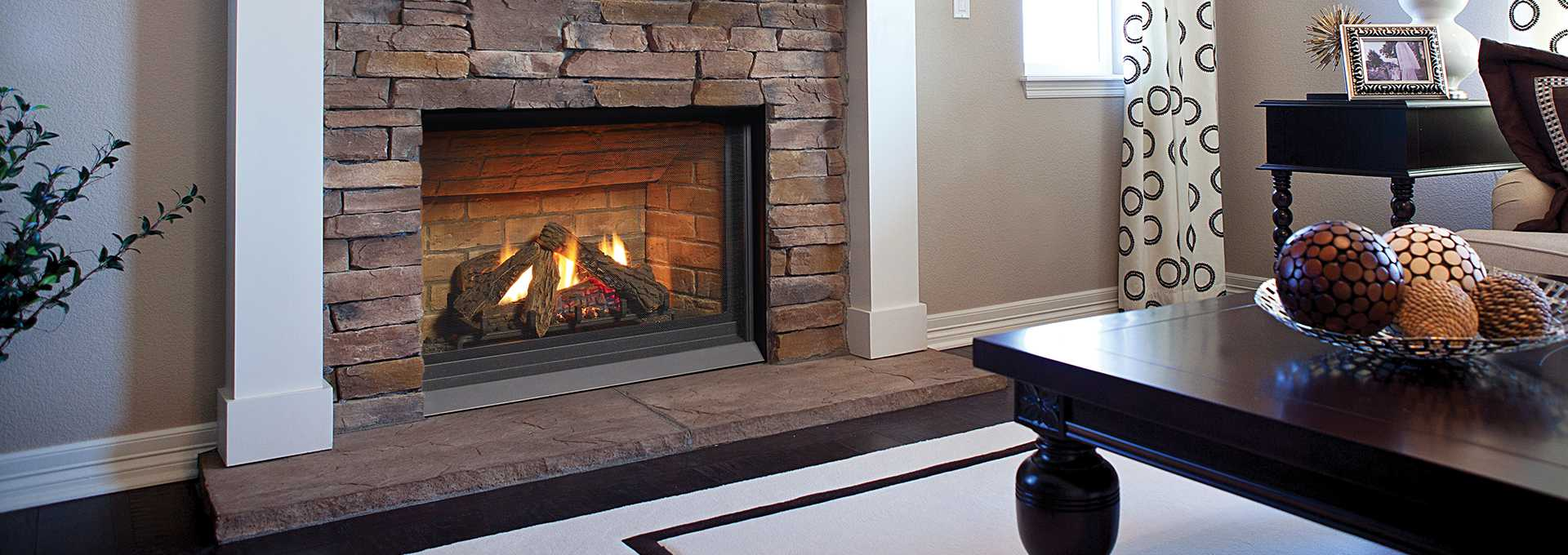 Compact Gas Fireplace Panorama P33ce Regency Fireplace Products