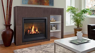 Featuring a deep firebox and stunningly beautiful fire that is so real your friends won't believe it's a gas fireplace!
