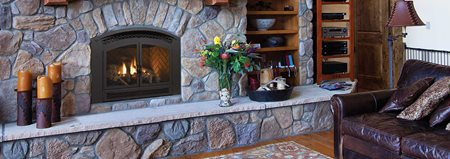 Traditional Arched Gas Fireplace Excalibur P90 Regency