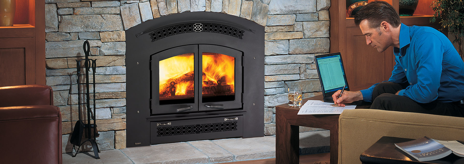 wood unlimited fireplace burning fireplaces item f portfolio elite