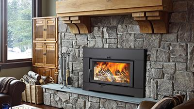 Update that drafty wood fireplace; and still enjoy the warmth and ambience that only wood can provide