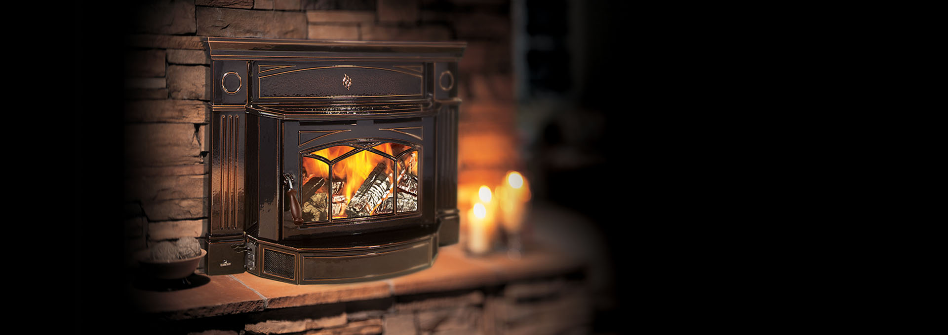 Timberline Fireplace Insert Part - 18: Shown With Grille With Timberline Brown Enamel Finish