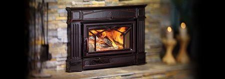 Hampton cast iron fireplaces regency fireplace products for Contemporary wood burning fireplace inserts