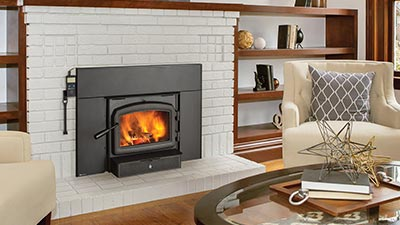 A small wood fireplace insert that delivers extra burn time & reduced emissions.