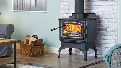 A perfect fit for smaller rooms. This small non-catalytic wood stove, comes with your choice of pedestal or legs and it is available in black or with nickel accents.