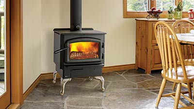Save money on your heating bill…and get back to basics with a beautiful Regency wood stove.