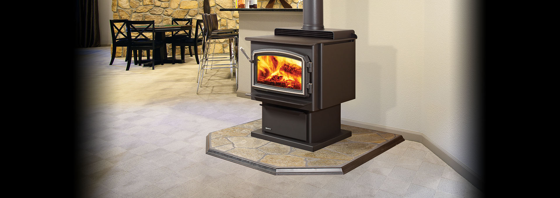 F3100 Large Non Catalytic Wood Burning Stove By Regency