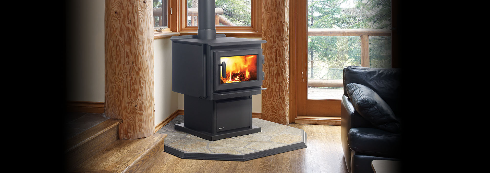 F3100 Large Wood Stove - Regency Fireplace Products