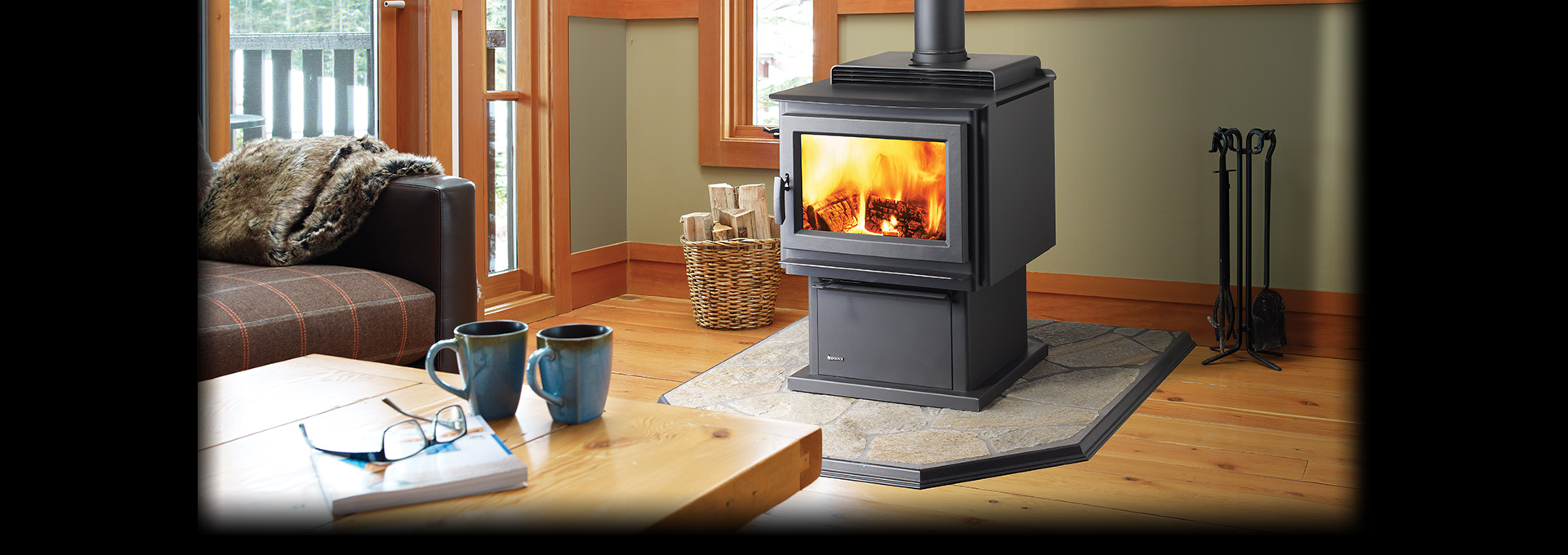 F3500 Large Hybrid Catalytic Woodstove - Regency Fireplace Products