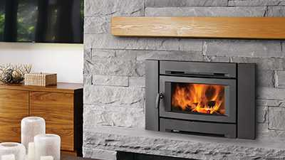 small contemporary wood burning insert
