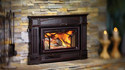 Hampton Hi400 Large Cast Iron Wood Fireplace Insert