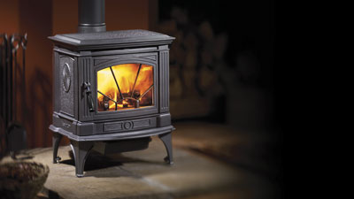 Hampton H200 Cast Iron Wood Stove in Charcoal Finish