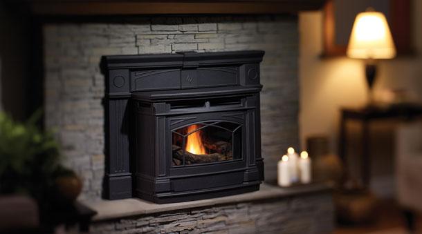 hampton gci60 cast pellet insert pellet inserts regency fireplace products. Black Bedroom Furniture Sets. Home Design Ideas