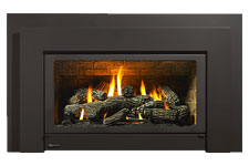 Low Profile Black Low Profile Black  Small Gas Fireplace Insert