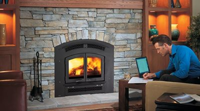 Regency's Large Excalibur Fireplace is a hard working heater, with a traditional style front.