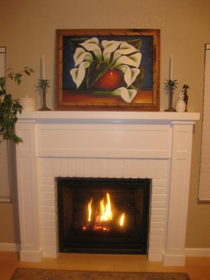 Charmant Regency Bellavista Fireplace, White Mantel
