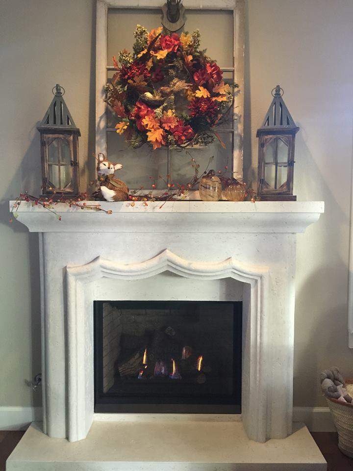 Bellavista B36xtce Gas Fireplace Cast Mantel