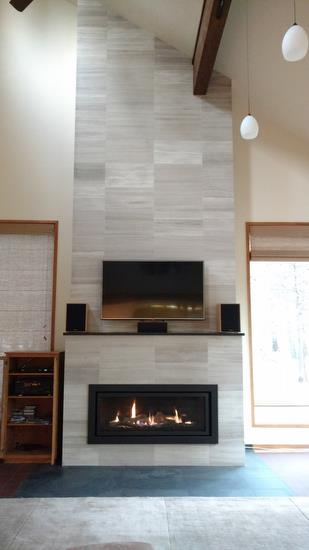 Regency Horizon Hz54e Gas Fireplace Finished With Tile